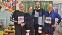 Philippe, Nick, Neil and Darren ready for the Moyleman Marathon