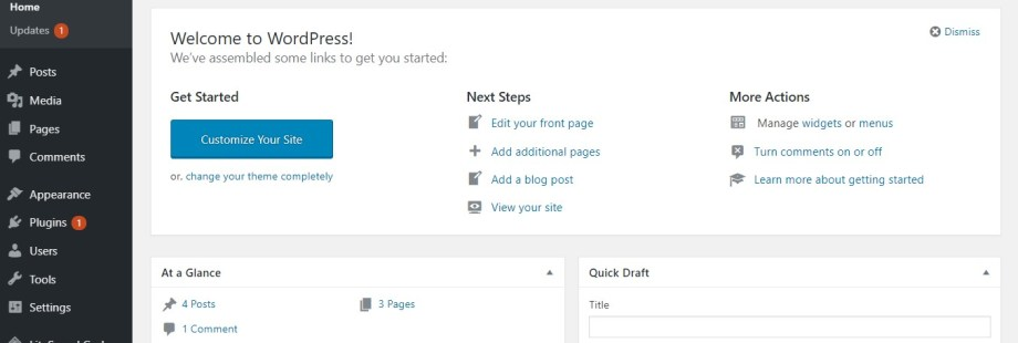 Learn The Feature of the WordPress Admin Panel