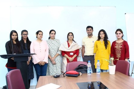 Dr. Sujata Satapathy with workshop participants