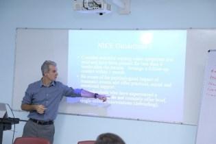 Dr. Townend explaining a concept