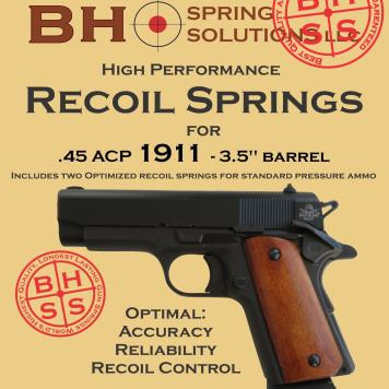 """Recoil Springs for 3.5"""" (Officer) .45ACP 1911s Pack of 3"""