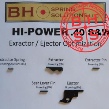 Browning Hi-Power .40S&W Extractor / Ejector Optimization Kit