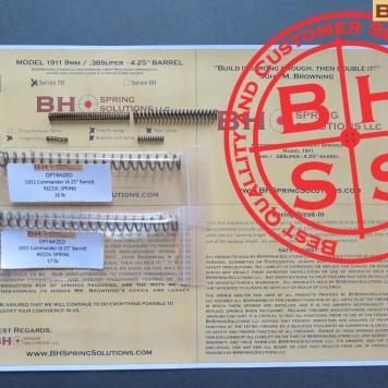 "Complete Optimizing Spring System for 4.25"" (Officer)  9mm/ .38Super  1911s s.70"