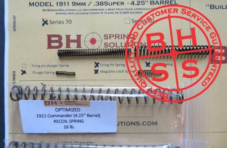 "Complete Optimizing Spring System for 4.25"" (Officer)  9mm/ .38Super  1911s s.70"