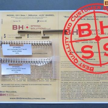 "Complete Optimizing Spring System for 4.25"" (Commander)  9mm/ .38Super  1911s s.80"