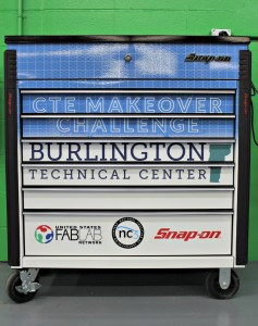 """BTC received a tool chest for winning the """"CTE Makeover Challenge."""" 
