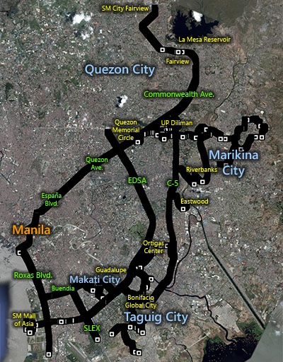 Metro Manila routes for my first year of running