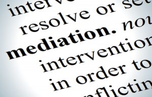 the word 'mediation' on a dictionary page
