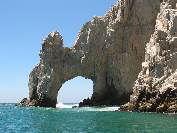 El Arco (The Arch) as viewed from a water taxi