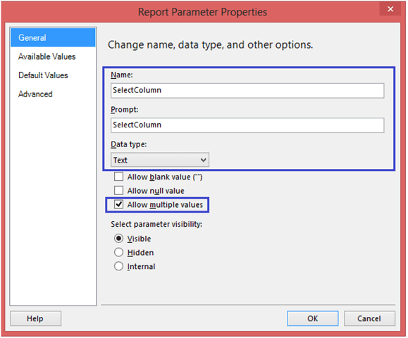 3-Conditionally Setting Column Visibility in SSRS