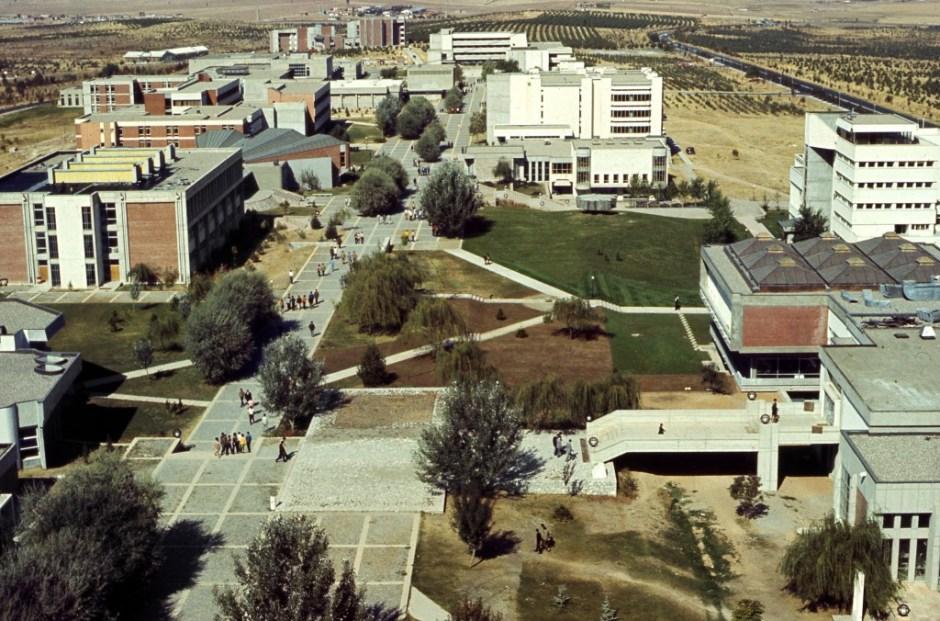 ODTÜ, Yaya Allesi ve Fakülte Binaları, 1980'ler