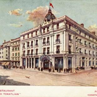 Tokatliyan_Otelini_gosteren_tasbaski_kartpostal_Tarihsiz_Pierre_de_Gigord_Koleksiyonu_