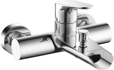 Wall-mounted single-lever bath shower