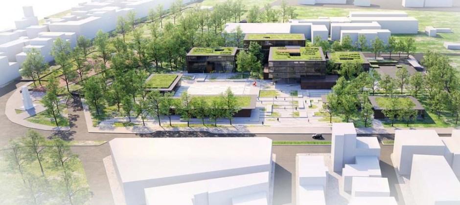 İnegöl Belediye Binası ve Meydanı