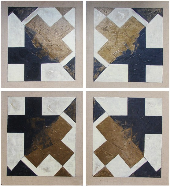 Nil Yalter Pixelismus 1996 Tuval üzerine 24 resim 47 x 42 cm (her biri)