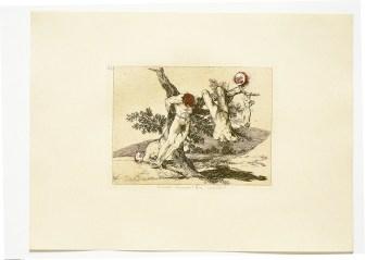 Yaraya Tuz, 2003 80 adet suluboya tatbik edilmiş Francisco Goya gravürleri 37 x 47 cm (her biri) © Jake ve Dinos Chapman Sanatçıların ve John McEnroe Gallery'nin izniyle (detay)