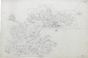 ODTÜ Kampüsü yarışma projesi vaziyet planı, 1961 SALT Araştırma, Altuğ-Behruz Çinici Arşivi