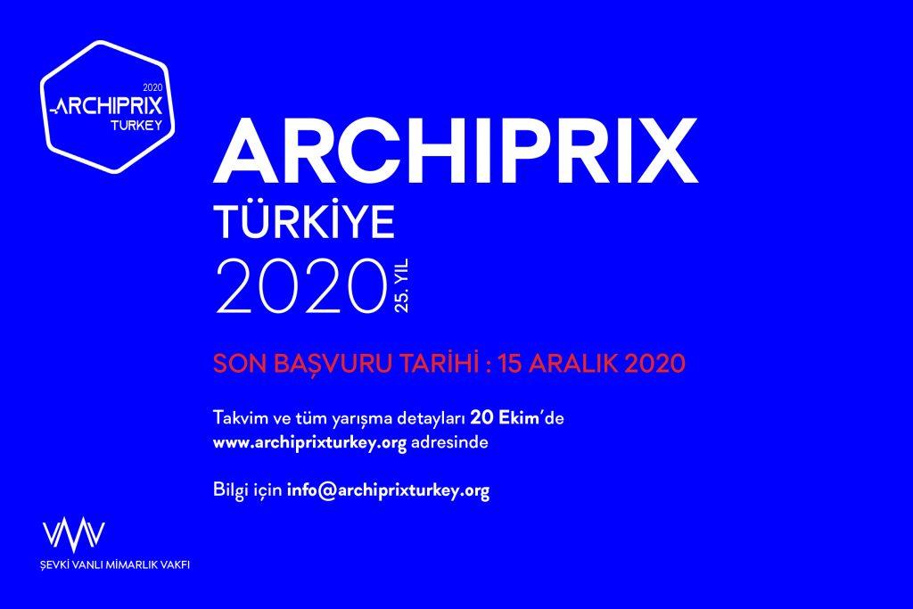 Archiprix Türkiye 2020 Başlıyor!