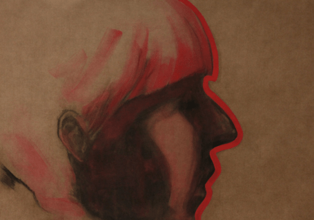 """Kerem Kuşcu, """"Çevrim"""", Kraft Üzerine Karışık Teknik, 70 x 100 cm, 2019"""