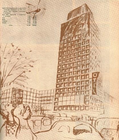 LAKÓTERV (István Janáky, György Jánossy, Olga Mináry, Lajos Zalaváry): İşhane (apartman ve ofis binası) – Ulus, Ankara