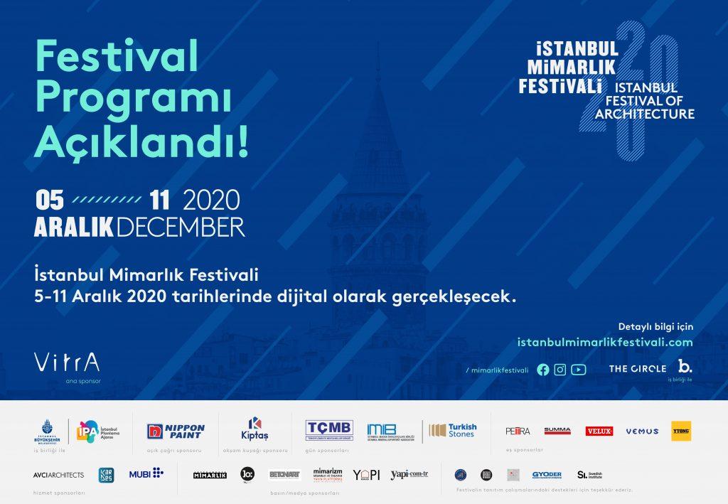 İstanbul Mimarlık Festivali 2020'nin PROGRAMI Açıklandı!