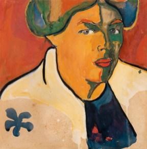 Kazimir Malevich (1879-1935), Kadın Portresi, 1910-1911 civarı, Mukavva üstüne guvaş, 27,7 × 27,8 cm, Devlet Çağdaş Sanat Müzesi, Costakis Koleksiyonu, 140.78-46