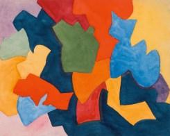 Ksenia Ender (1895-1955), İsimsiz, 1920'ler, Kağıt üstüne suluboya ve guvaş, 15,4 × 19,1 cm, Devlet Çağdaş Sanat Müzesi, Costakis Koleksiyonu, 27.78-45
