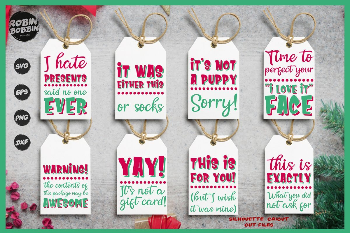 By the way, not only will i be showing you how to make gift tags from cricut design space, but i will also provide you with 10+ free svg. 10 Funny Christmas Designs The Font Bundles Blog