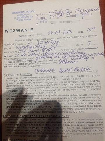 Wezwanie, które przyszło do Władysława Frasyniuka