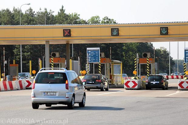 Bramki na autostradzie A1 pod Toruniem
