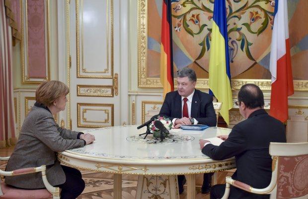 Angela Merkel, Petro Poroszenko i Francois Hollande podczas zeszłotygodniowego spotkania w Kijowie