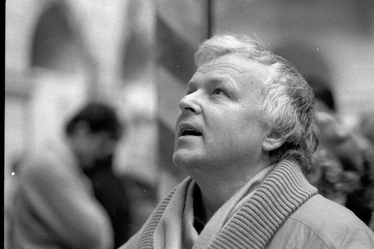 Marian Opania; 1990 r. (fot. Piotr Wójcik / Agencja Gazeta)