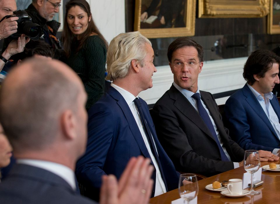 Mark Rutte, Geert Wilders i Jesse Klaver