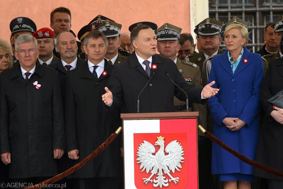 Prezydent RP Andrzej Duda podczas Święta Narodowego Trzeciego Maja