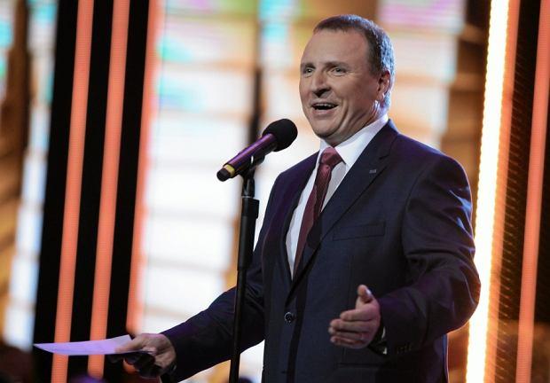 Prezes TVP Jacek Kurski podczas festiwalu w Opolu 2016