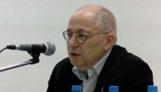 Józef Orzeł, krajowy koordynator Ruchu Kontroli Wyborów na spotkaniu w Łodzi