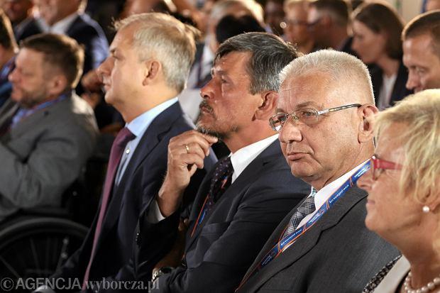 Grzegorz Napieralski, Michał Mazowiecki i Ludwik Dorn na posiedzeniu Rady Krajowej Platformy Obywatelskiej