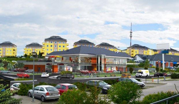 Wizualizacja nowego centrum handlowego na Ujeścisku