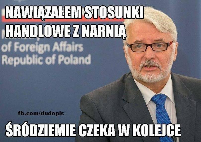 Wielki sukces Polskiej dyplomacji. Waszczykowski nawiązał kontakt z nieistniejącym państwem [MEMY]
