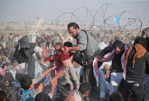 Uchodźcy na granicy syryjsko-tureckiej