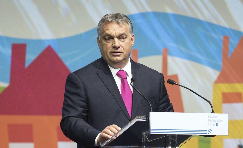 Premier Węgier Viktor Orban (fot. Szilard Koszticsak/MTI via AP)