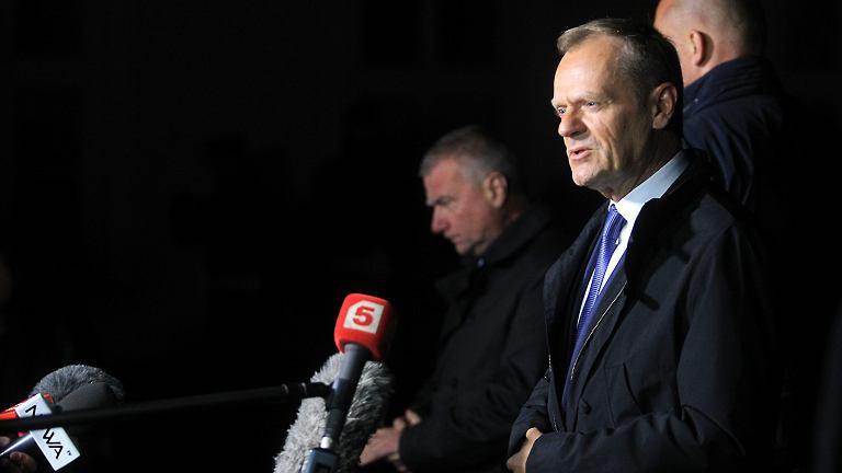 Donald Tusk po przesłuchaniu w prokuraturze