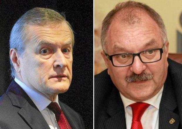 Minister kultury Piotr Gliński, marszałek województwa dolnośląskiego Cezary Przybylski