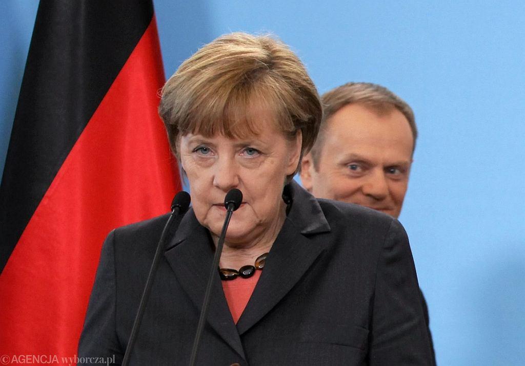 Angela Merkel i Donald Tusk, rok 2014 (fot. Sławomir Kamiński/AG)