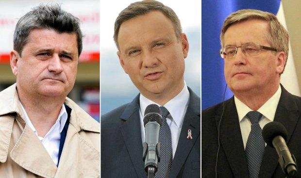 Janusz Palikot, Andrzej Duda, Bronisław Komorowski