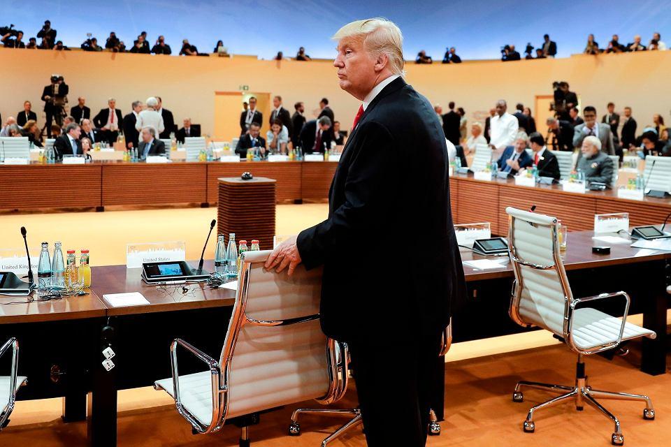 Donald Trump na sali obrad szczytu G20