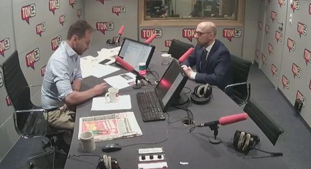 Piotr Kraśko i Krzysztof Łapiński w ''Poranku Radia TOK FM''