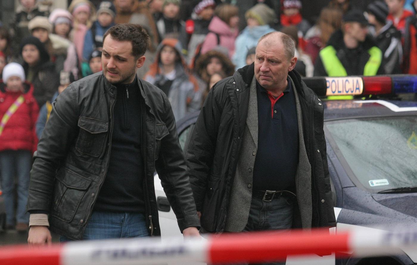 """Na planie filmu """"Pitbull"""" (fot. Wojciech Surdziel / Agencja Gazeta)"""