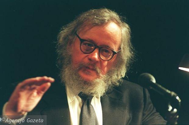 Jerzy Grotowski w 1997 r. Zmarł dwa lata później