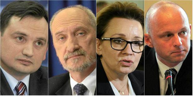 Zbigniew Ziobro, Antoni Macierewicz, Anna Zalewska i Paweł Szałamacha - nowi ministrowie w rządzie Beaty Szydło